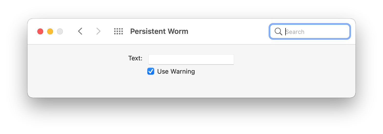 Persistent Worm